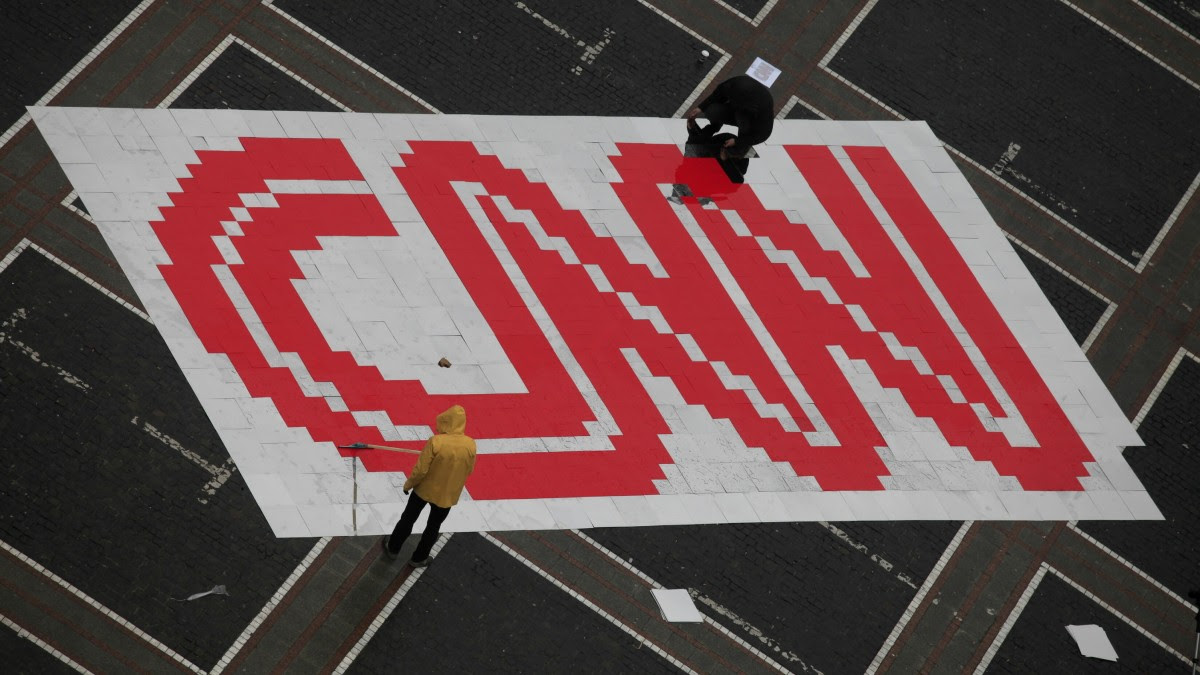 The CNN logo is shown here. (Photo Martin Oeser/dapd)