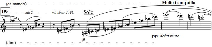 Berg Violin Concerto - Adagio Bars 195ff