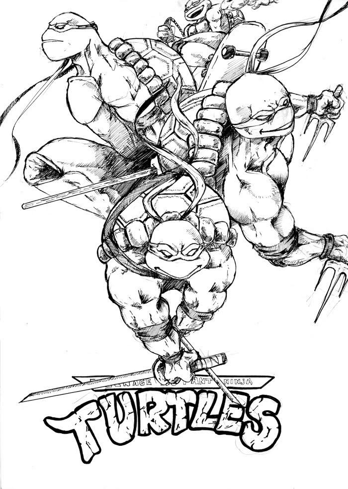 106 Dessins De Coloriage Tortue Ninja à Imprimer Sur Laguerchecom