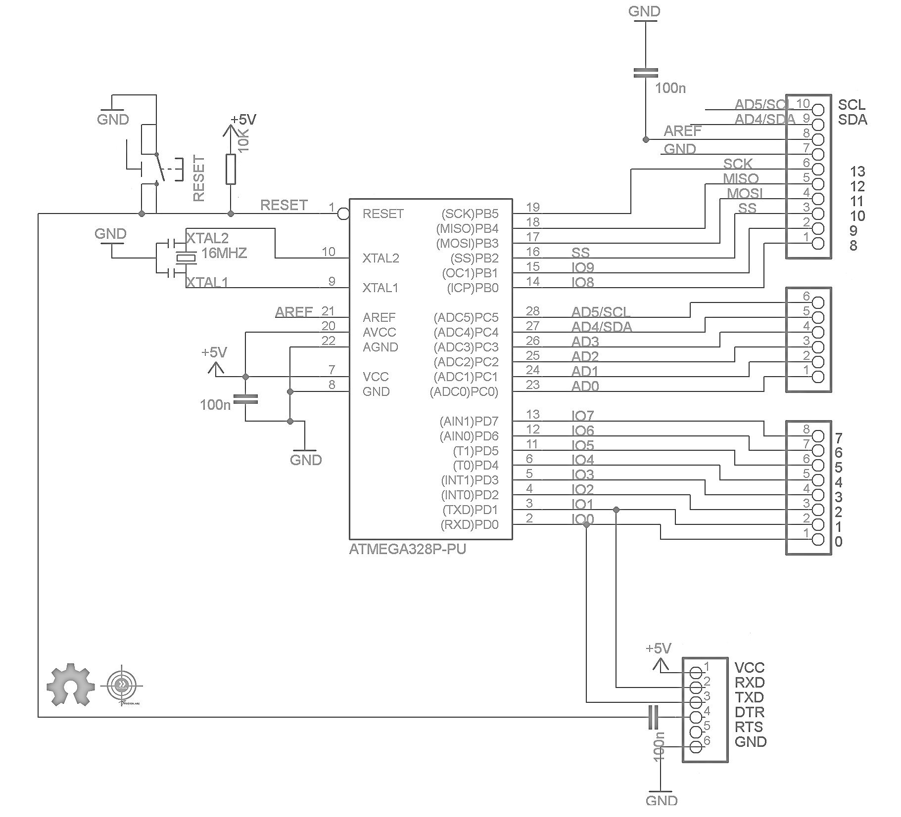 arduino board circuit diagram