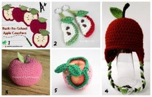 crochet back to school fall apple theme teens tweens