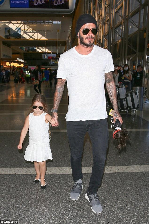 David Beckham Lax Airport February 16 Star Style Man