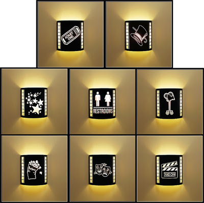 Lighting Sconce for home theater decor
