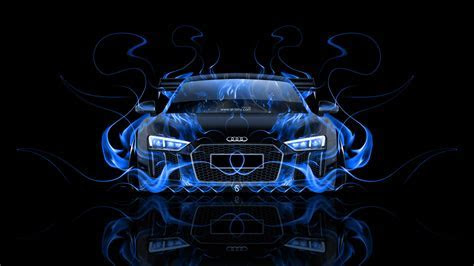 Audi R8 Front Super Fire Abstract Car 2015   el Tony