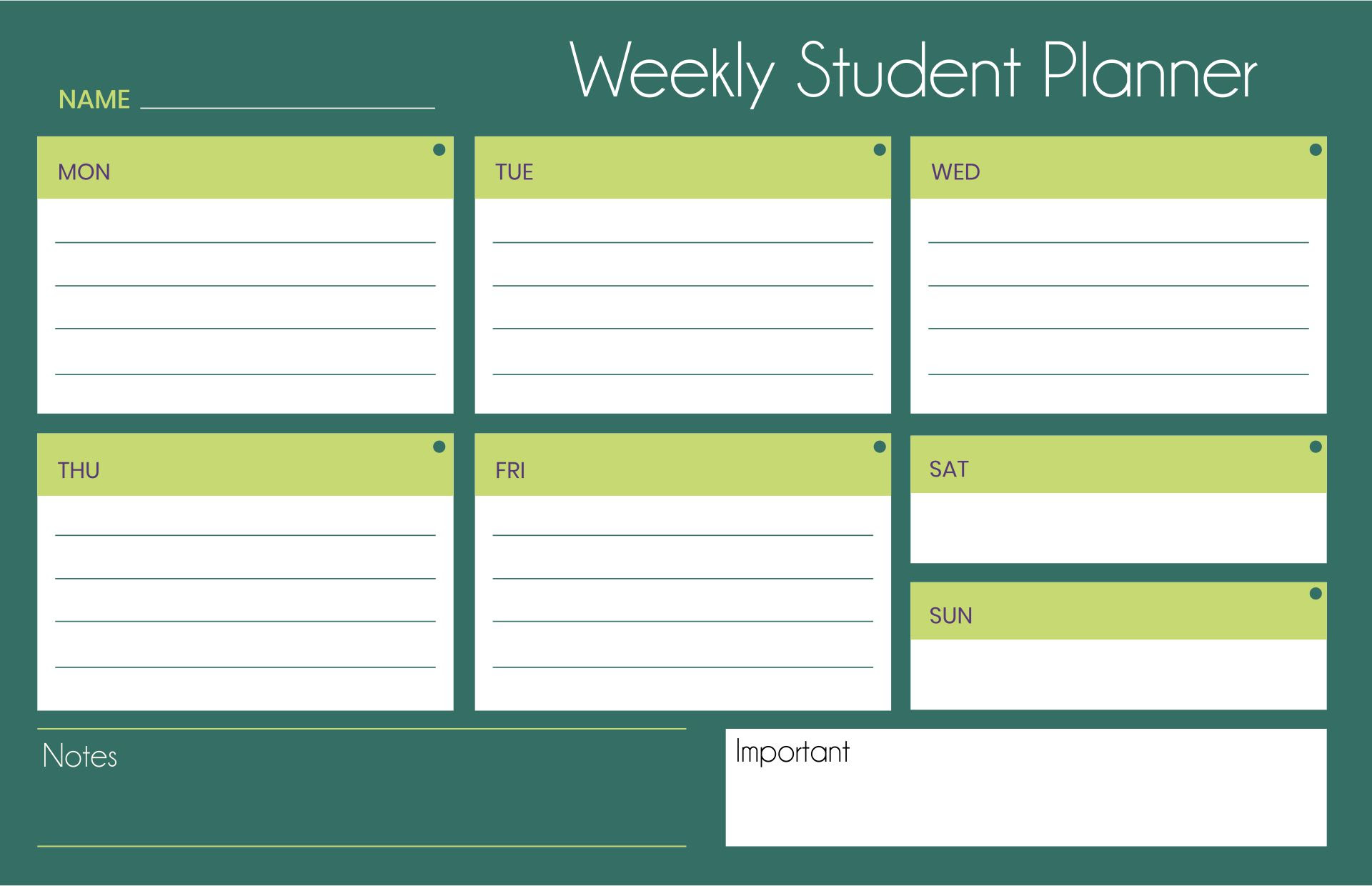 Daily Student Agenda Template | Daily Planner