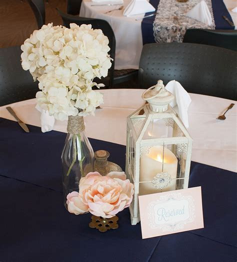 Outdoor Wedding at McCrory Gardens with Navy, Blush Pink