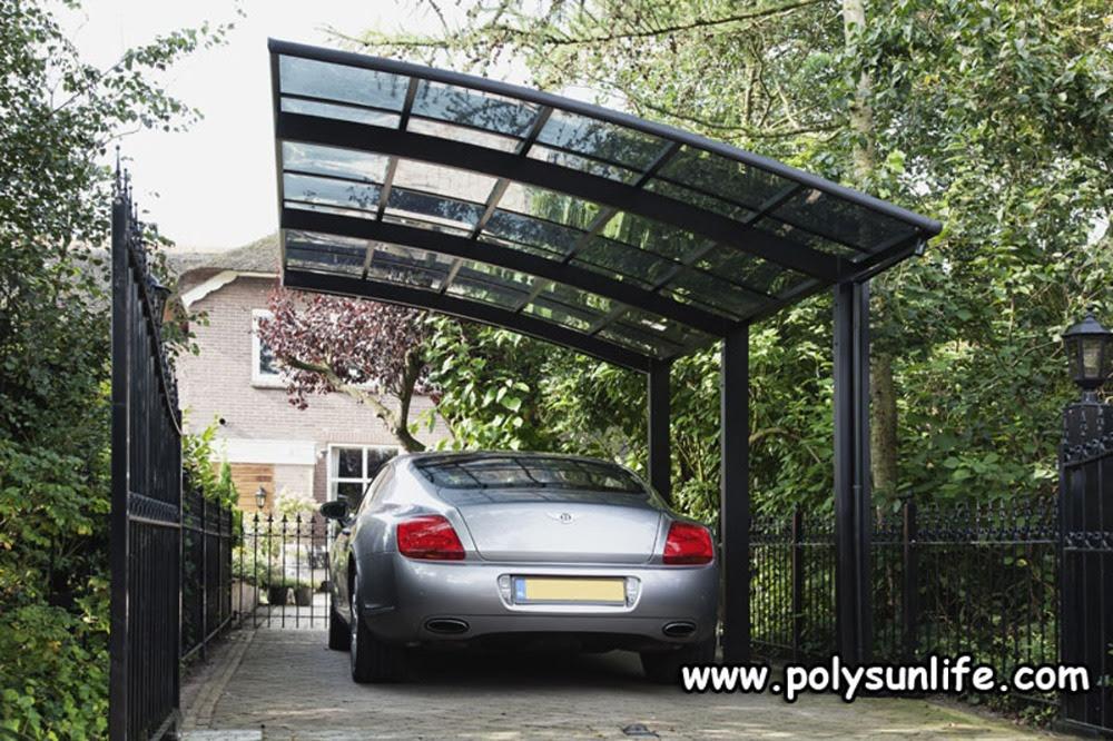 Sun Life Single Aluminum Carport with Polycarbonate Roof ...