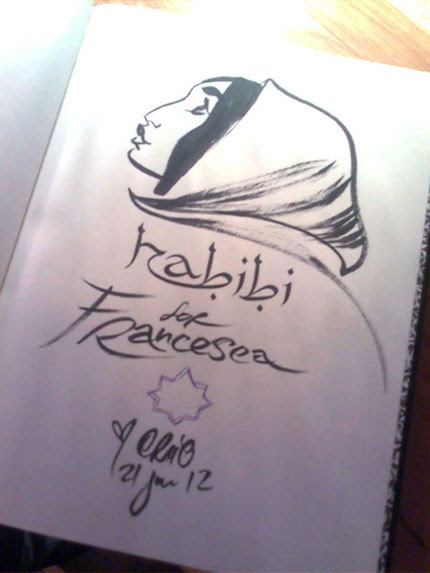 My copy of Habibi signed by Craig Thompson!