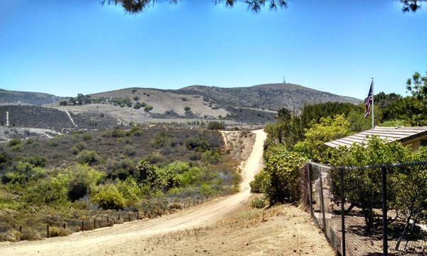 Another view from the trail Nancy and I used for our hike in Orange County, CA...on June 17, 2014.