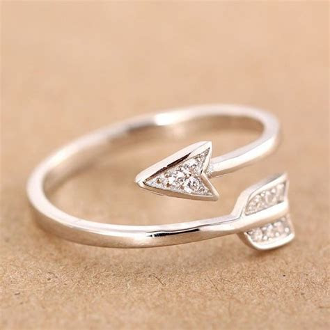 925 Sterling Silver Cupid Arrow Couple Opening Ring only