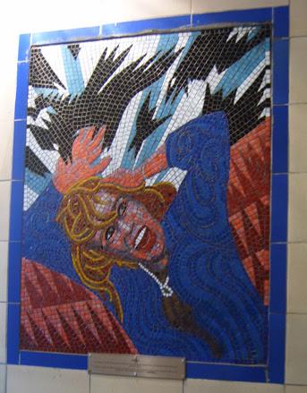 Hitchcock Leytonstone London Underground Mosaics - The Birds