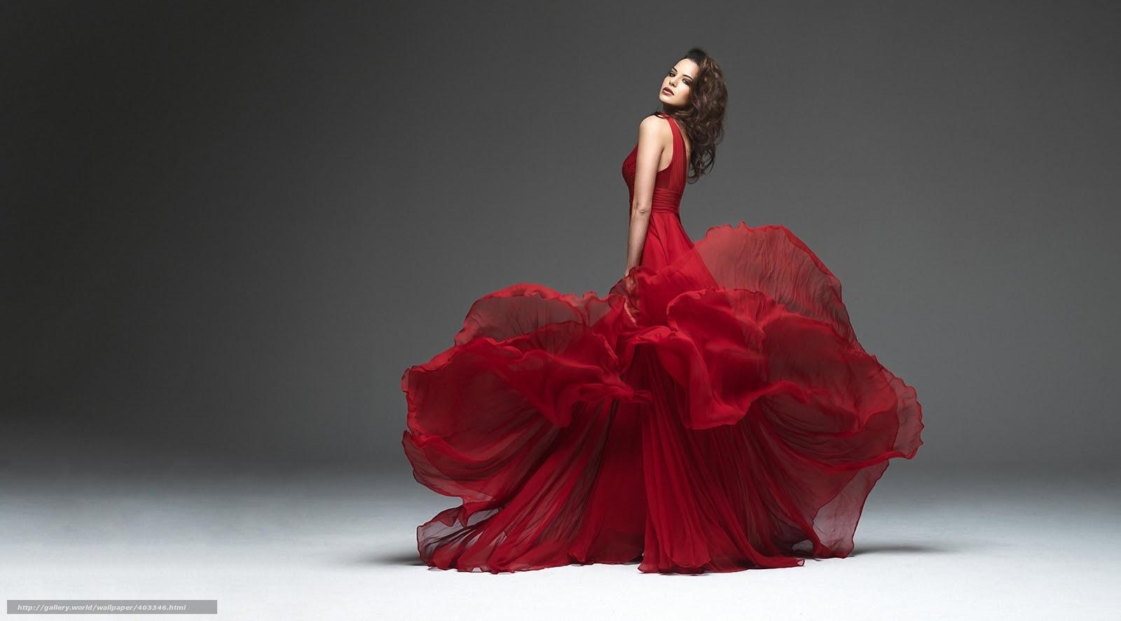 壁紙をダウンロード 女の子 モデル ドレス 赤 デスクトップの解像度