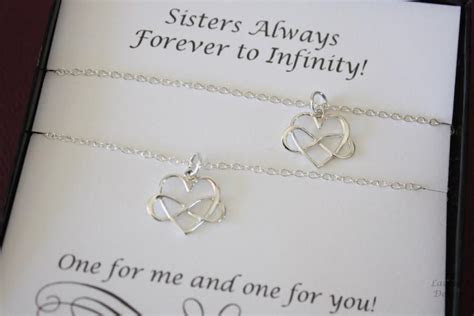 Friendship Necklace Gift Set, 2 Infinity Heart Necklaces