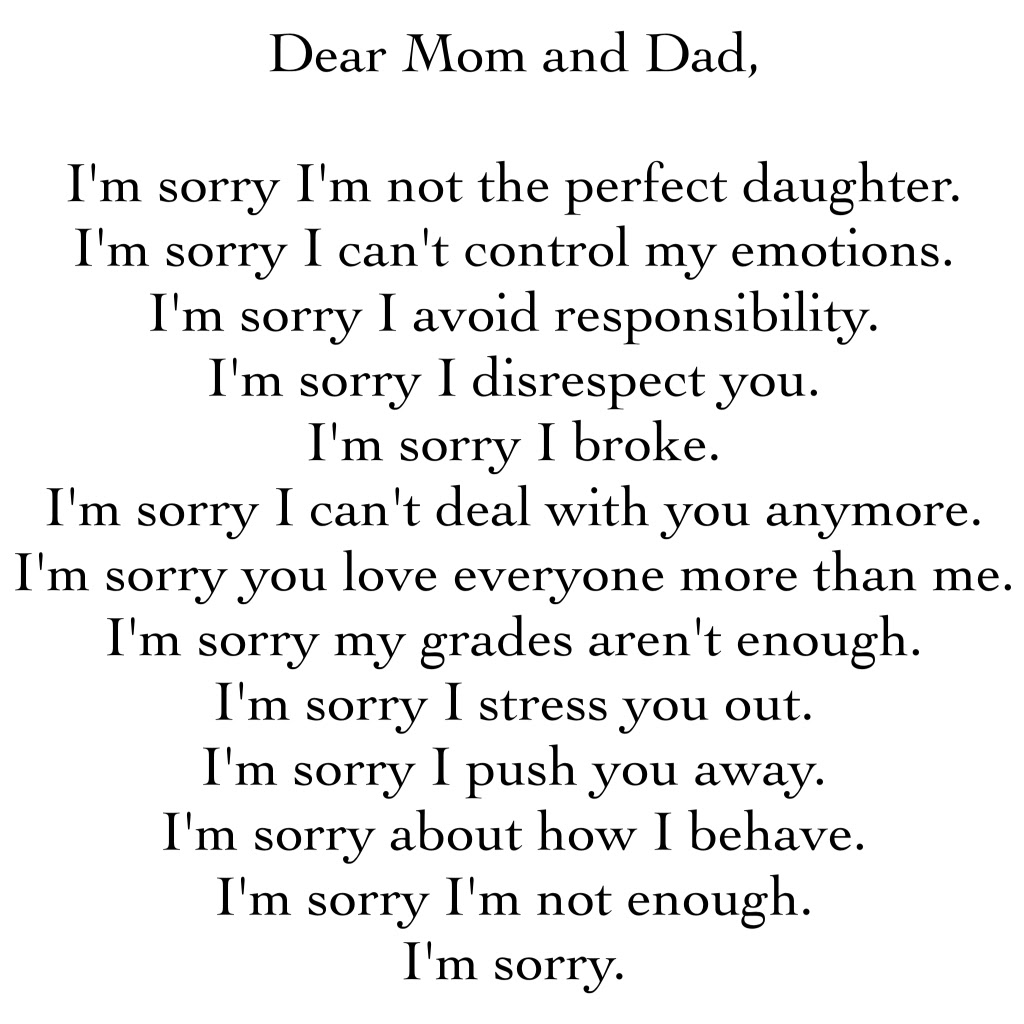 Quotes About Sorry Parents 37 Quotes