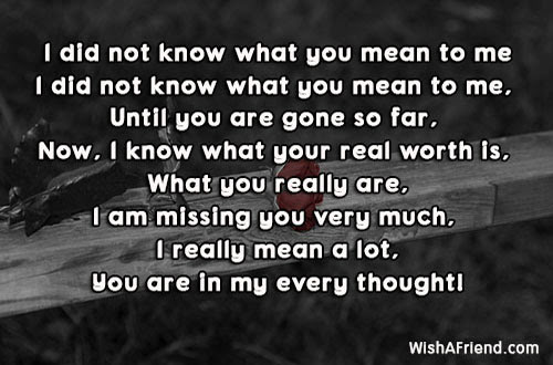 Missing You Poems For Boyfriend