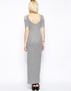 Image 2 ofVila Cold Shoulder Maxi Dress