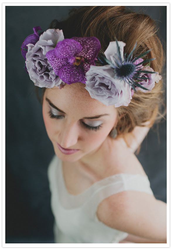 floral headpieces Photographer Jillian McGrath sums up the shoot