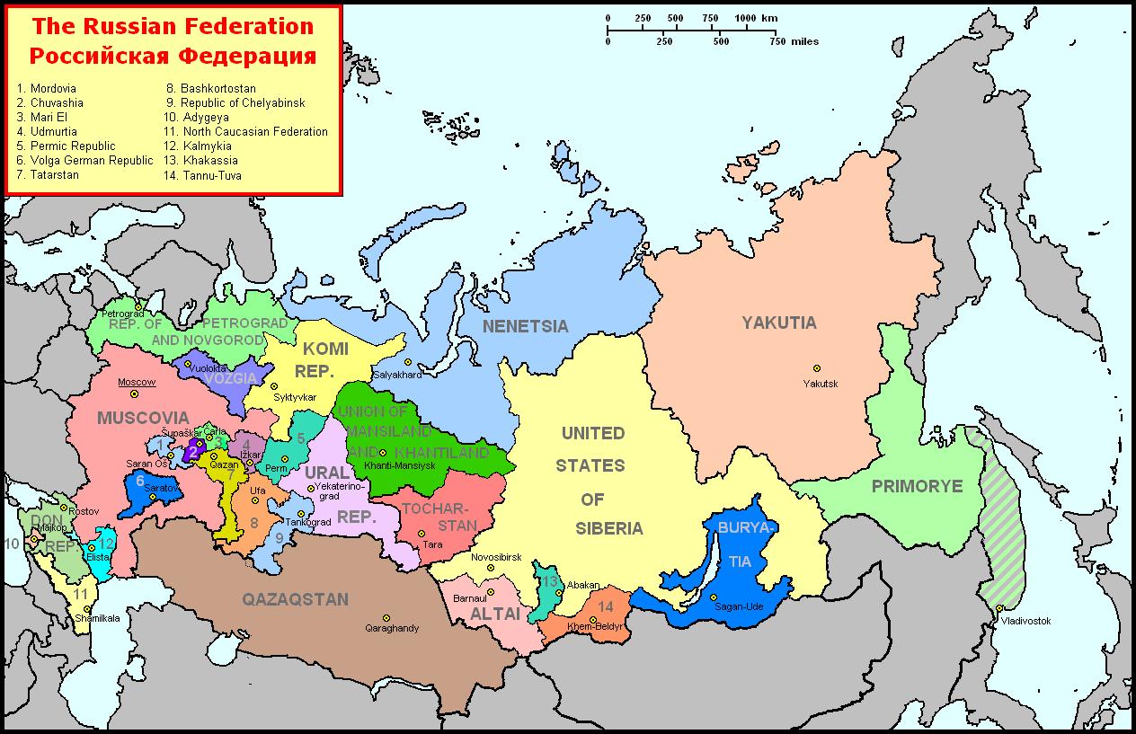 Risultati immagini per russian federation regions