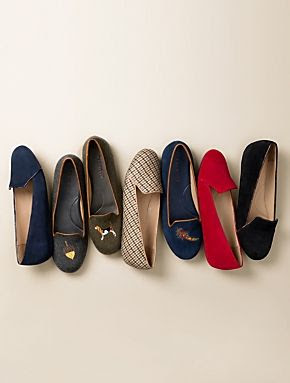Talbots - Zelda Embroidered Flannel Piped Flats | Flats |