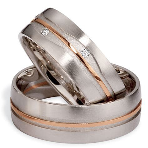 Men's Platinum, Rose Gold and Diamond Band #284   Seattle