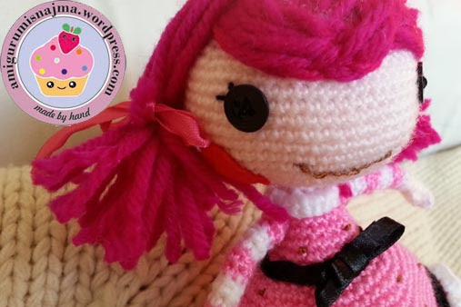 Lalaloopsy Toffee Cocoa Cuddles doll amigurumi-03