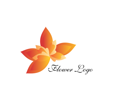 Orange Flower Art Vector Logo Inspiration Download Vector Logos