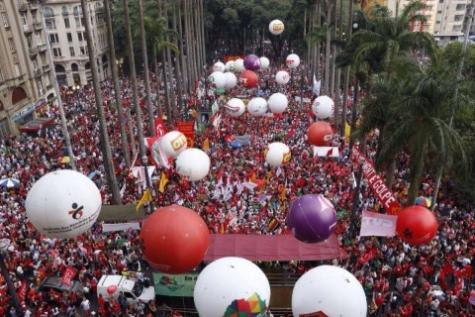 Manifestación en São Paulo. Foto: José Eduardo Bernardes