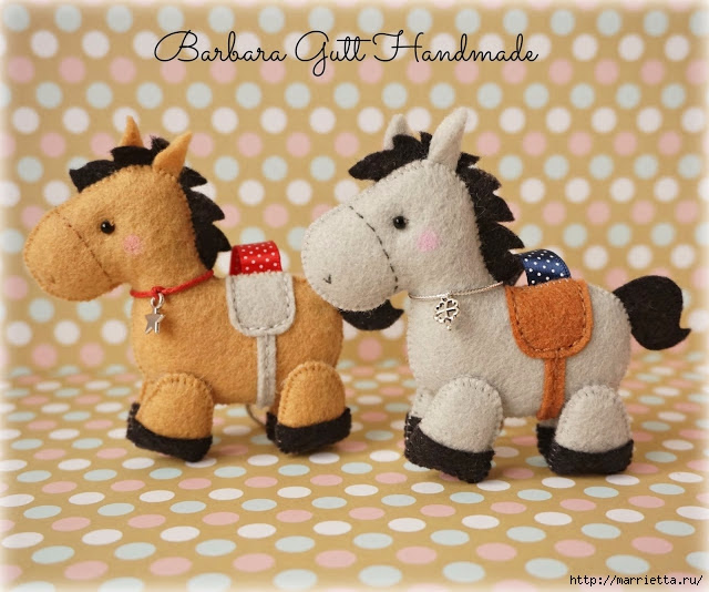 Of felt.  Horses by Barbara (2) (640x534, 230Kb)