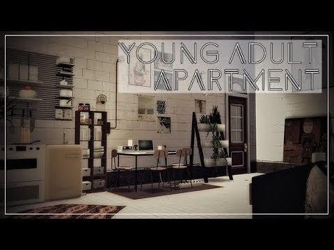 SIMS 4 || APARTMENT TOUR || YOUNG ADULT -MEDINA STUDIO910[DOWNLOAD incl.CC