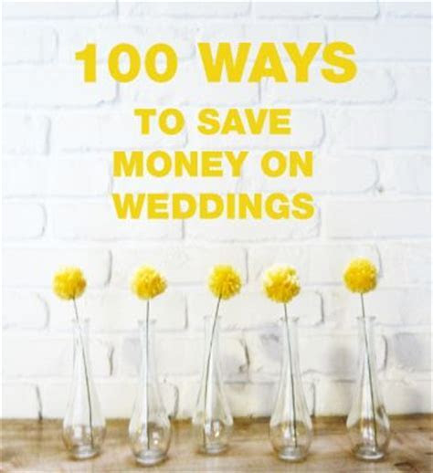What are some ways to save money on your wedding? The