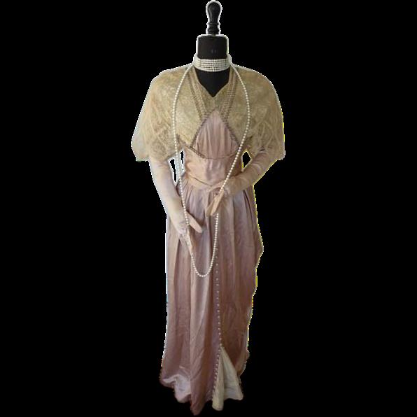Edwardian vintage evening dresses