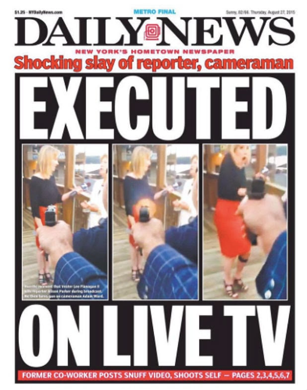 NY Daily News Sparks Outrage With 'Sickening' WDBJ Shooting Cover