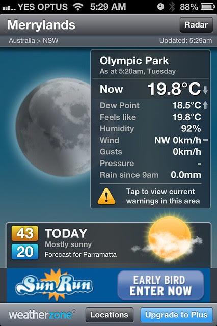 Heat wave 8 January 3013