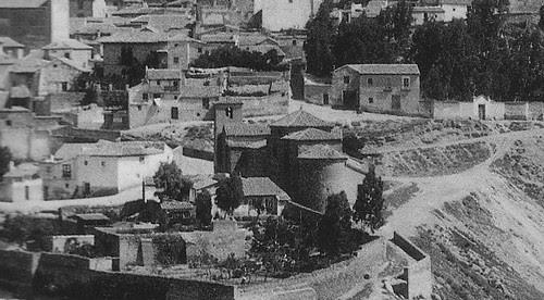 Iglesia de San Lucas a principios del siglo XX. Fotografía de Loty