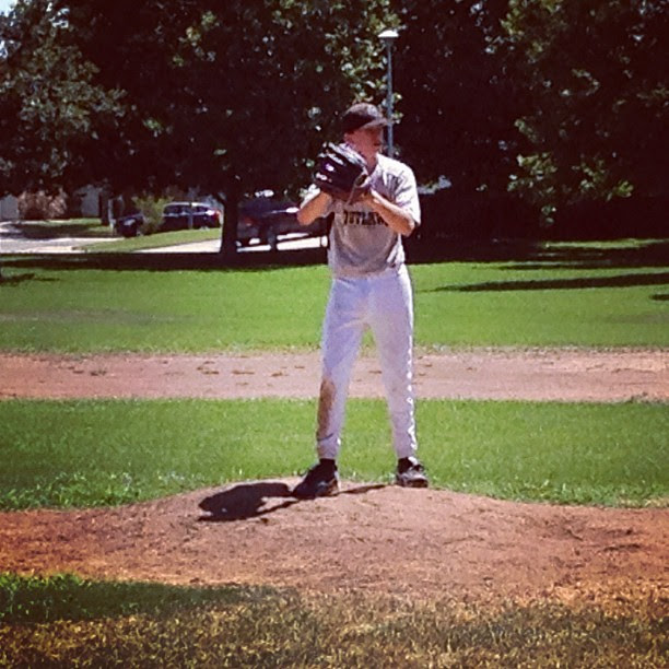 Jack pitching against the Titans