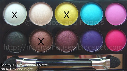 BeautyUK Eyeshadow Palette Day and Night 5