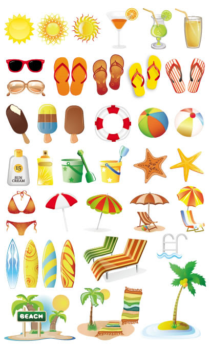 夏海の風物詩イラストaieps ベクタークラブイラストレーター素材