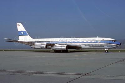 Kuwait Airways Boeing 707-369C 9K-ACJ (msn 20084) ZRH (Rolf Wallner). Image: 912692.