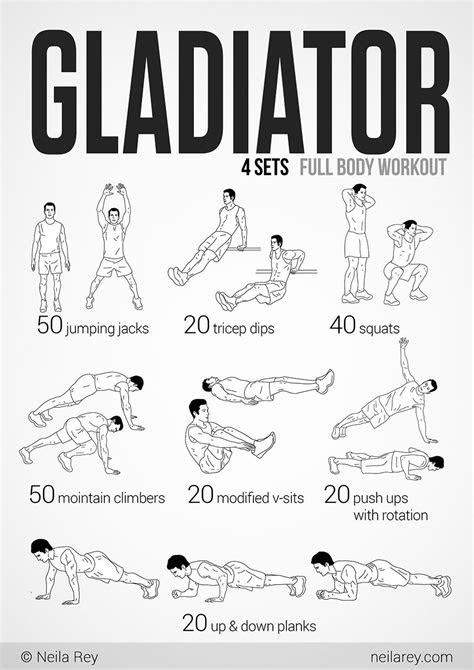 Gladiator Workout | Gladiator workout, Prison workout