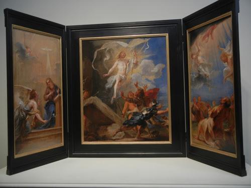 DSCN8026 _ The Snyders Triptych, c. 1659, Jan Boeckhorst (called Lange Jan) (1605-1668), LACMA