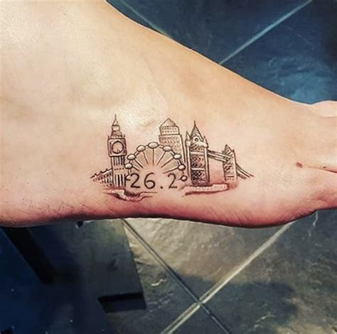 London Marathon   13 Foot Tattoos That Are Too Cute to