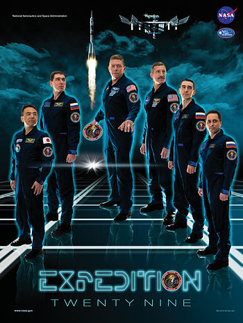 English: The Expedition 29 crew poster pays tr...