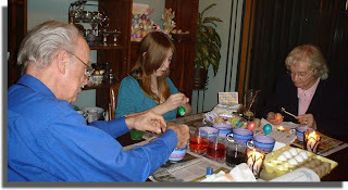 Egg Decorating Class led by Daughter