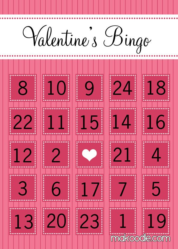 valentine bingo   free printable. Perhaps the winner could do ...