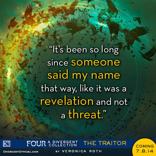 ICYMI: epicreads revealed a new quote from FOUR: A DIVERGENT COLLECTION yesterday!