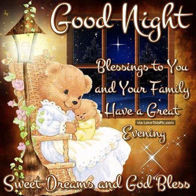 Goodnight Blessings To You And Your Family Pictures Photos And