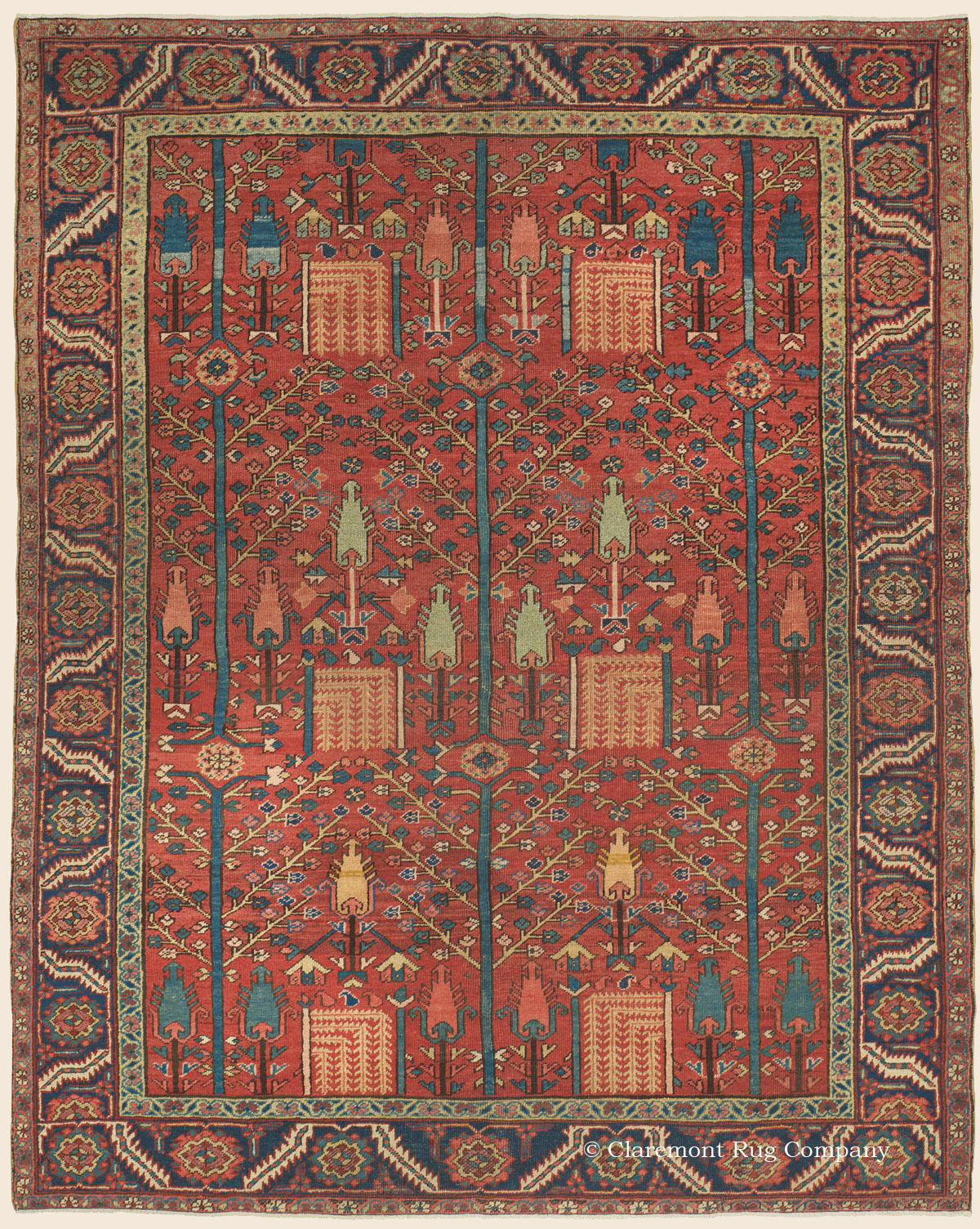 Heriz Tree Of Life Rug Northwest Persian Antique Rug Claremont