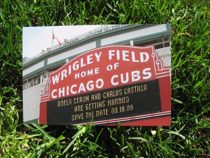 Save The Date Postcard - Chicago Cubs