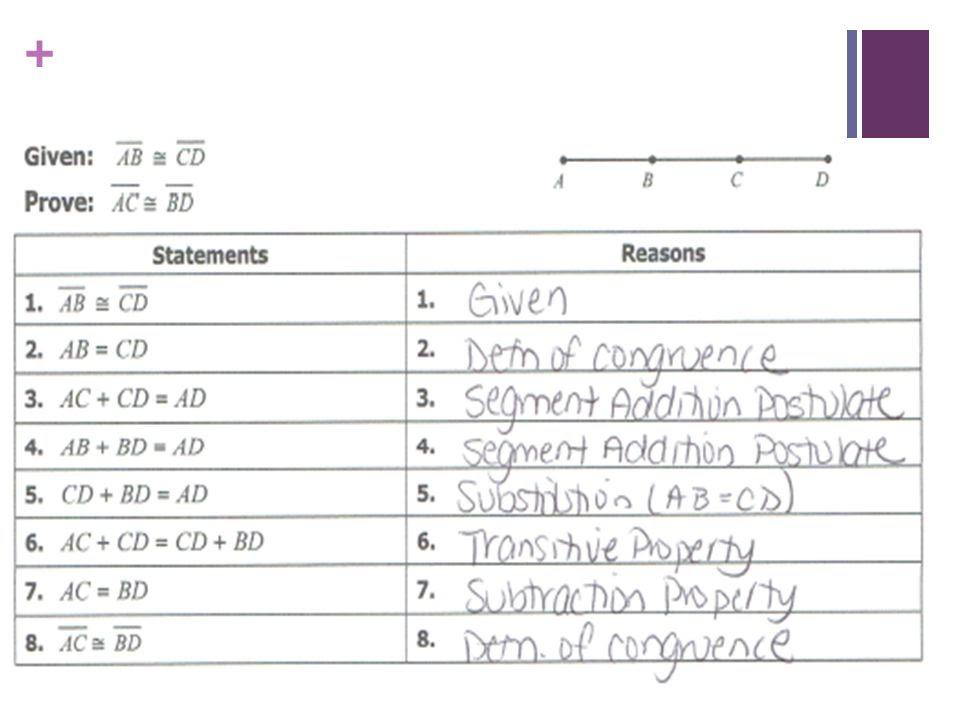 Segment Addition Postulate Worksheet Answer Key