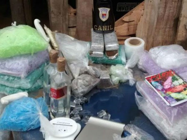 Guarda municipal apreende grande quantidade de drogas em Jundiaí (Foto: Divulgação / GCM)